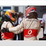 Jenson Button and Lewis Hamilton фото