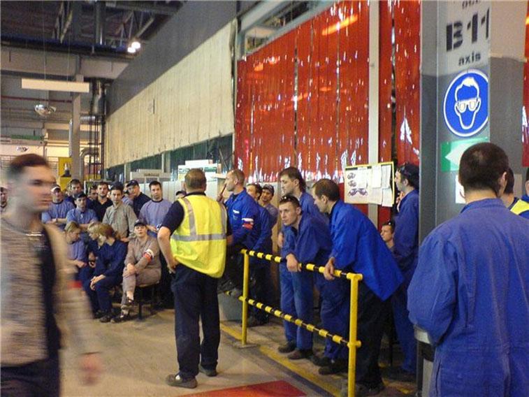 Забастовка на заводе Форд
