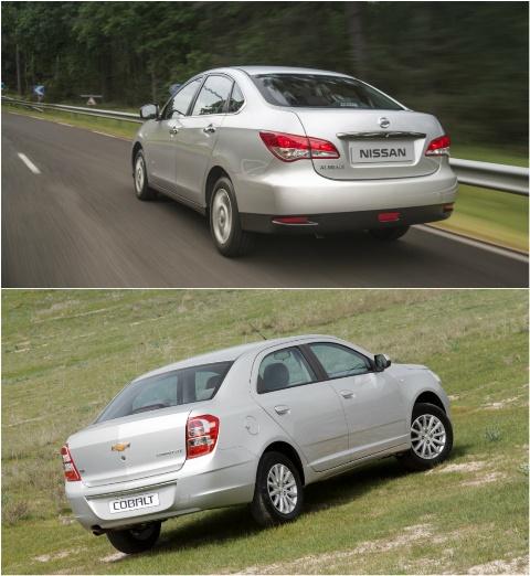 Nissan Almera и Chevrolet Cobalt