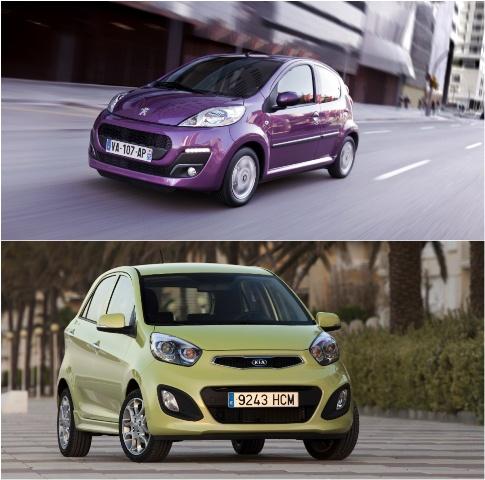 Peugeot 107 и KIA Picanto